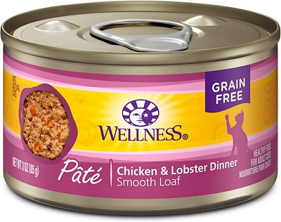 Wellness Complete Health Pate Chicken & Lobster Formula Canned Cat Food, 3-oz