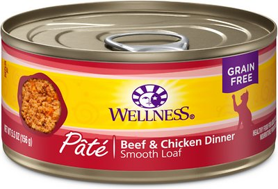Wellness Complete Health Adult Beef & Chicken Formula Grain-Free Canned Cat Food, 5.5-oz