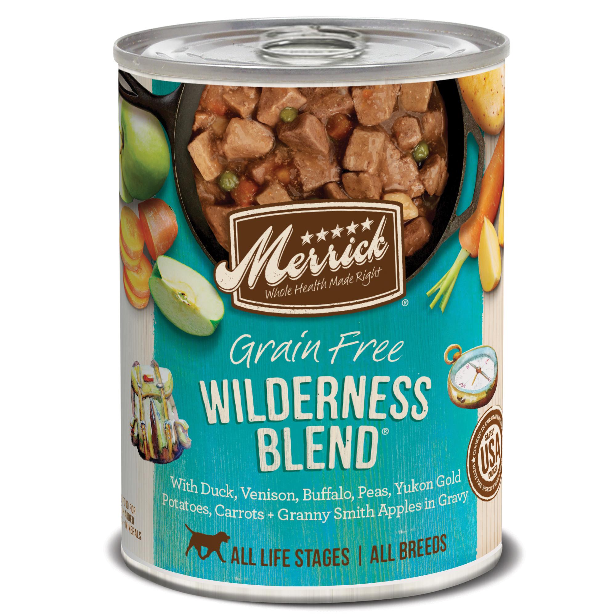 Merrick Grain-Free Wilderness Blend Canned Dog Food, 12.7-oz