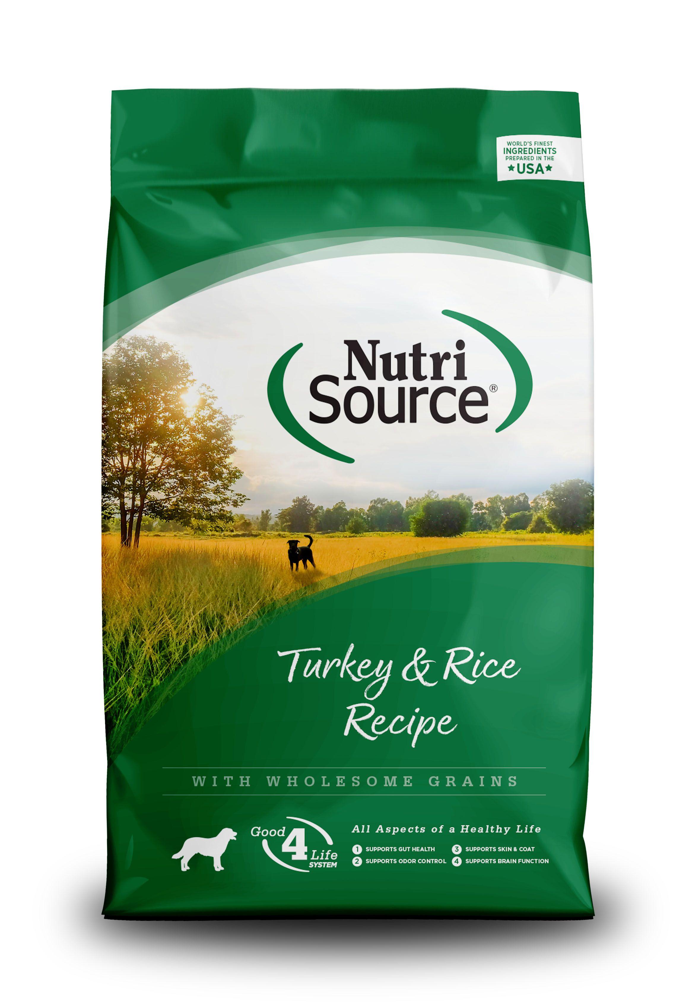 NutriSource Turkey & Rice Dry Dog Food, 30-lb bag