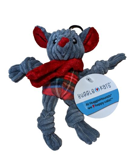 HuggleHounds Totally Tartan Chirstmas Mouse Cat Toy, Wee
