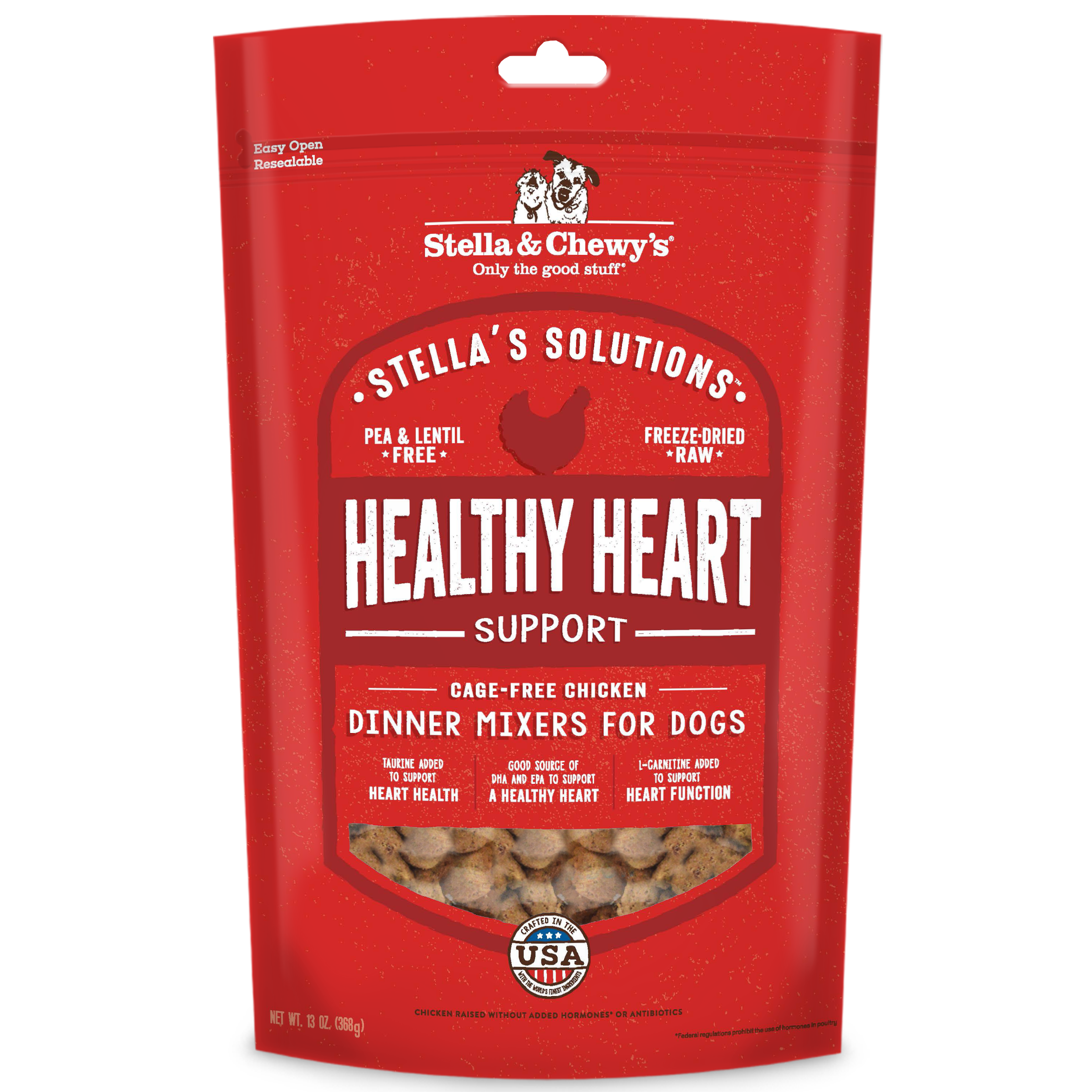 Stella & Chewy's Stella's Solutions Healthy Heart Support Chicken Freeze-Dried Raw Dog Food, 234-g
