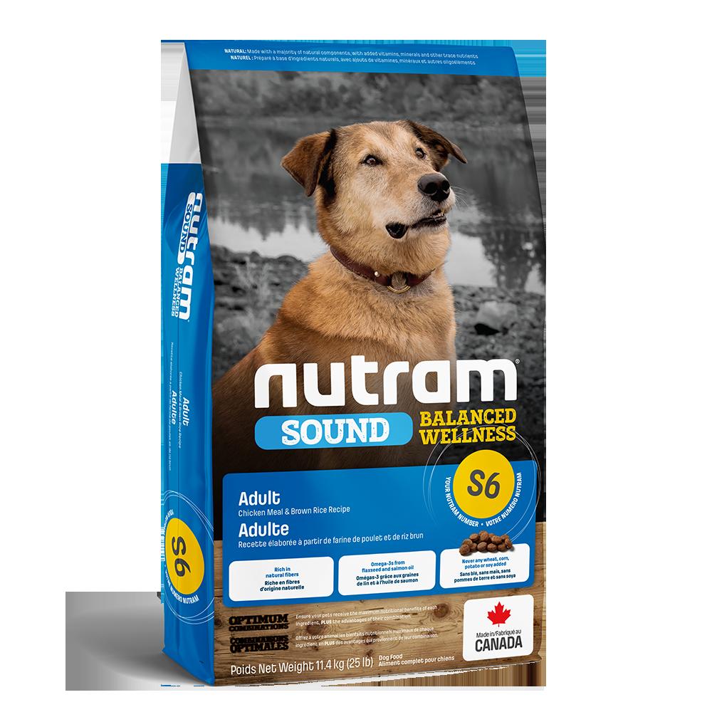 Nutram Sound S6 Balanced Wellness Adult Dog Food, 11-4kg