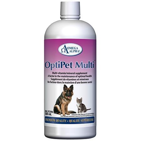Omega Alpha OptiPet Multi Premium Quality Pet Supplement, 500-mL