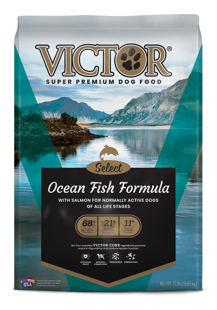 Victor Ocean Fish Formula with Alaskan Salmon Dry Dog Food, 40-lb bag