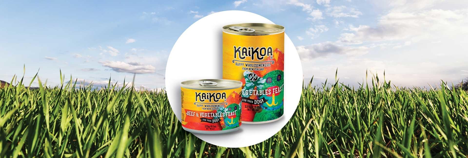 Kaikoa Dog Beef & Vegetable Feast Grain-Free Wet Dog Food, 13.2-oz, case of 12