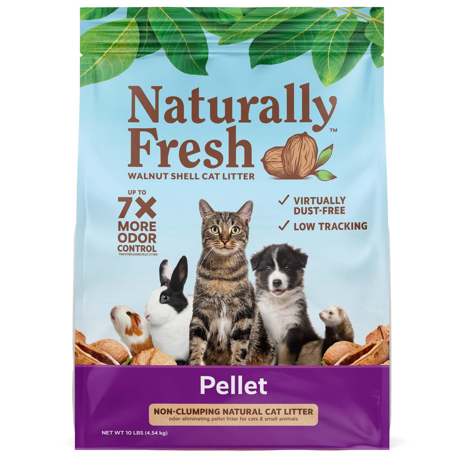 Naturally Fresh Walnut-Based Pellet Non-Clumping Cat Litter, 10-lb bag