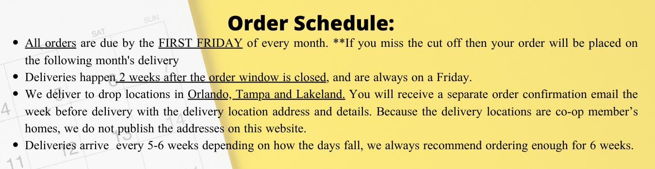 Orders FAQ