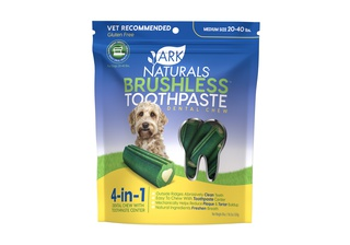 Ark Naturals Breath-Less Brushless Toothpaste Medium to Large Dog Chews, 18-oz bag